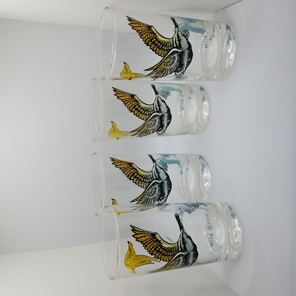 Vintage 1950's Boscul Wild Geese Drinking Glass Tumbler